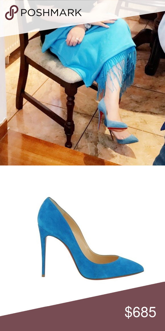 Light Blue Suede Christian Louboutins Almost Like Brand New