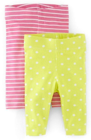 c74a5676695b9 Free shipping and returns on Mini Boden Print Leggings (2-Pack) (Baby Girls)  at Nordstrom.com. <p><B STYLE=
