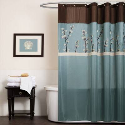 Teal And Brown Shower Curtains Google Search Brown Shower Curtain Blue Shower Curtains Fabric Shower Curtains