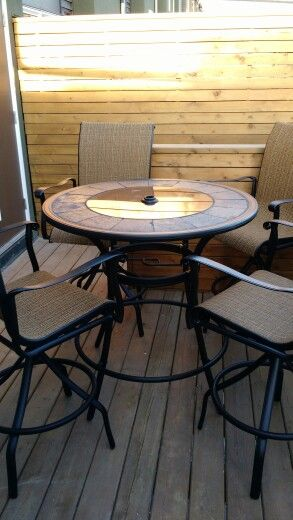 Bar Height Patio Set From Lowes Modern Furniture Table Bar