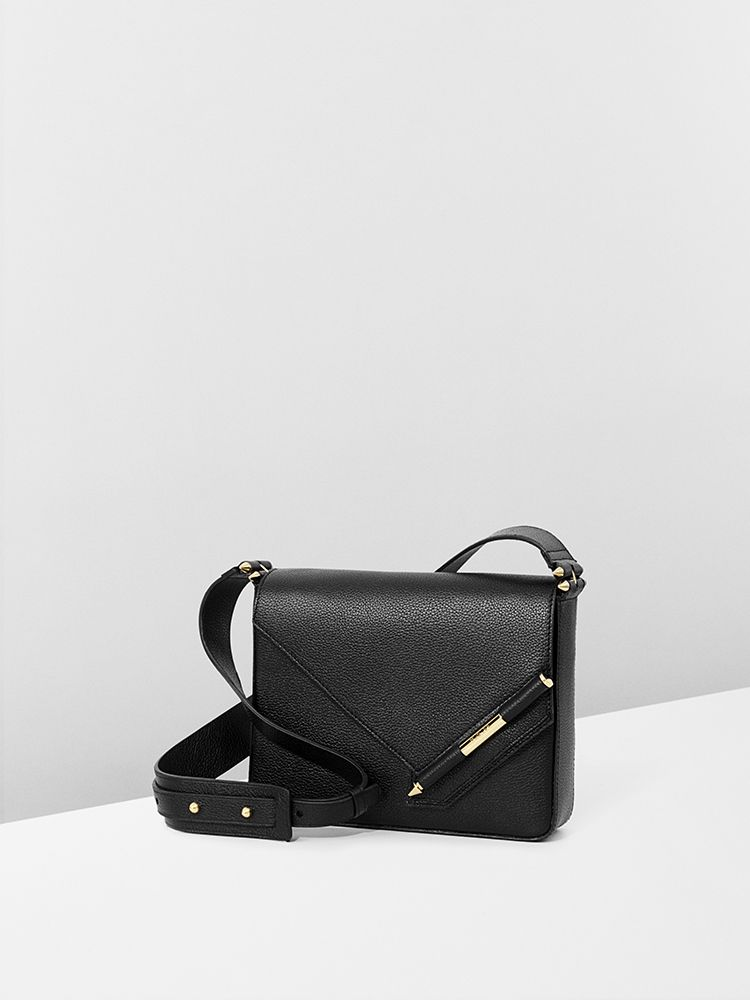 Black pebble calf leather #NewColonelBag for #MuglerFallWinter
