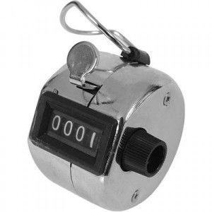 Viper Chrome Hand Tally Clicker features a zero clearing