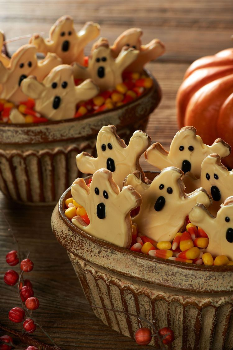 Ghost Shortbread Cookies Recipe Halloween treats