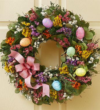 What a great decoration for your front door! | Easter | Pinterest ...