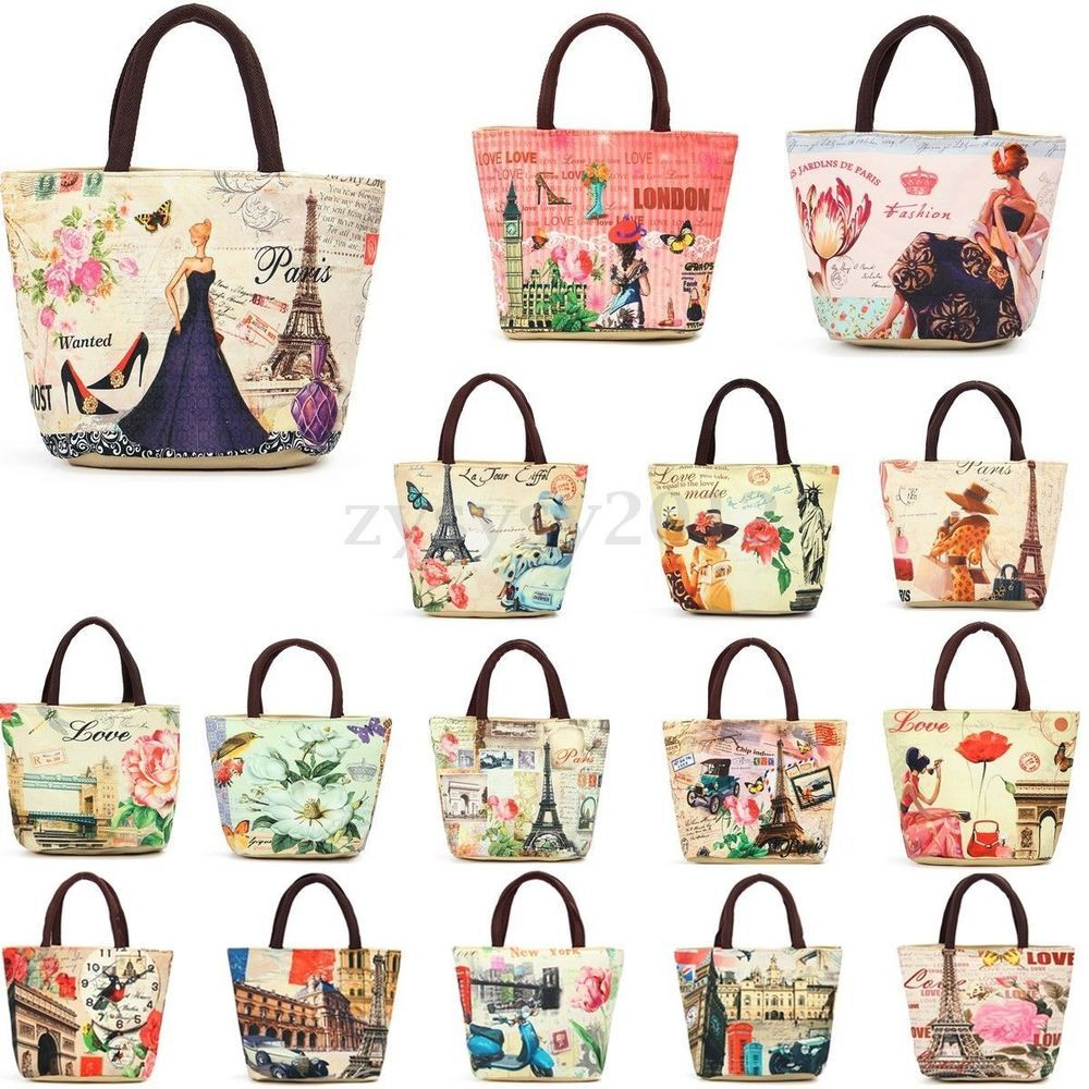 4190892c70f1 Details about Women European Thermal Tote Lunch Bag Picnic Cool ...