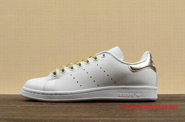 Adidas Stan Smith White Golden S78545 Originals Shoes For Womens ... 60f55e8ada33