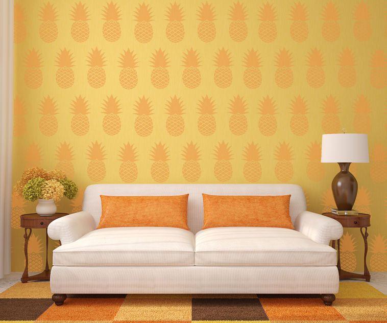 Allover Pineapple Stencil   Stenciling, Stencil designs and Fabrics