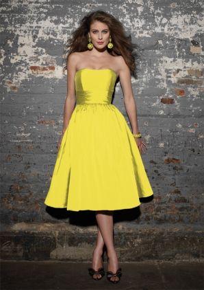 ff611090ecc3 mori lee angelina faccenda yellow taffeta dress | Fancy Dresses ...