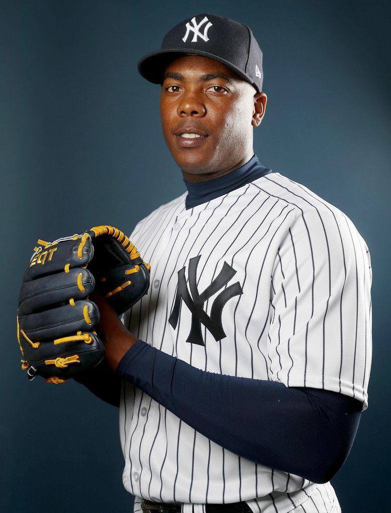 Aroldis Chapman Photos Photos New York Yankees Photo Day New York Yankees Yankees Baseball Players New York Yankees Baseball