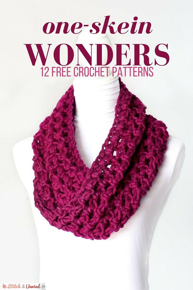 One Skein Wonders 12 Free Crochet Patterns Crochet Pinterest