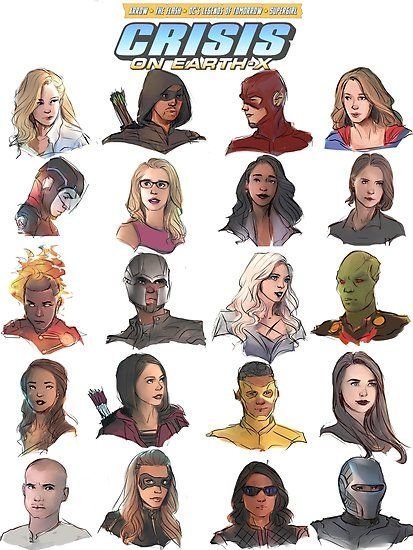 'arrowverse' Poster by shani artist Buy 'arrowvers