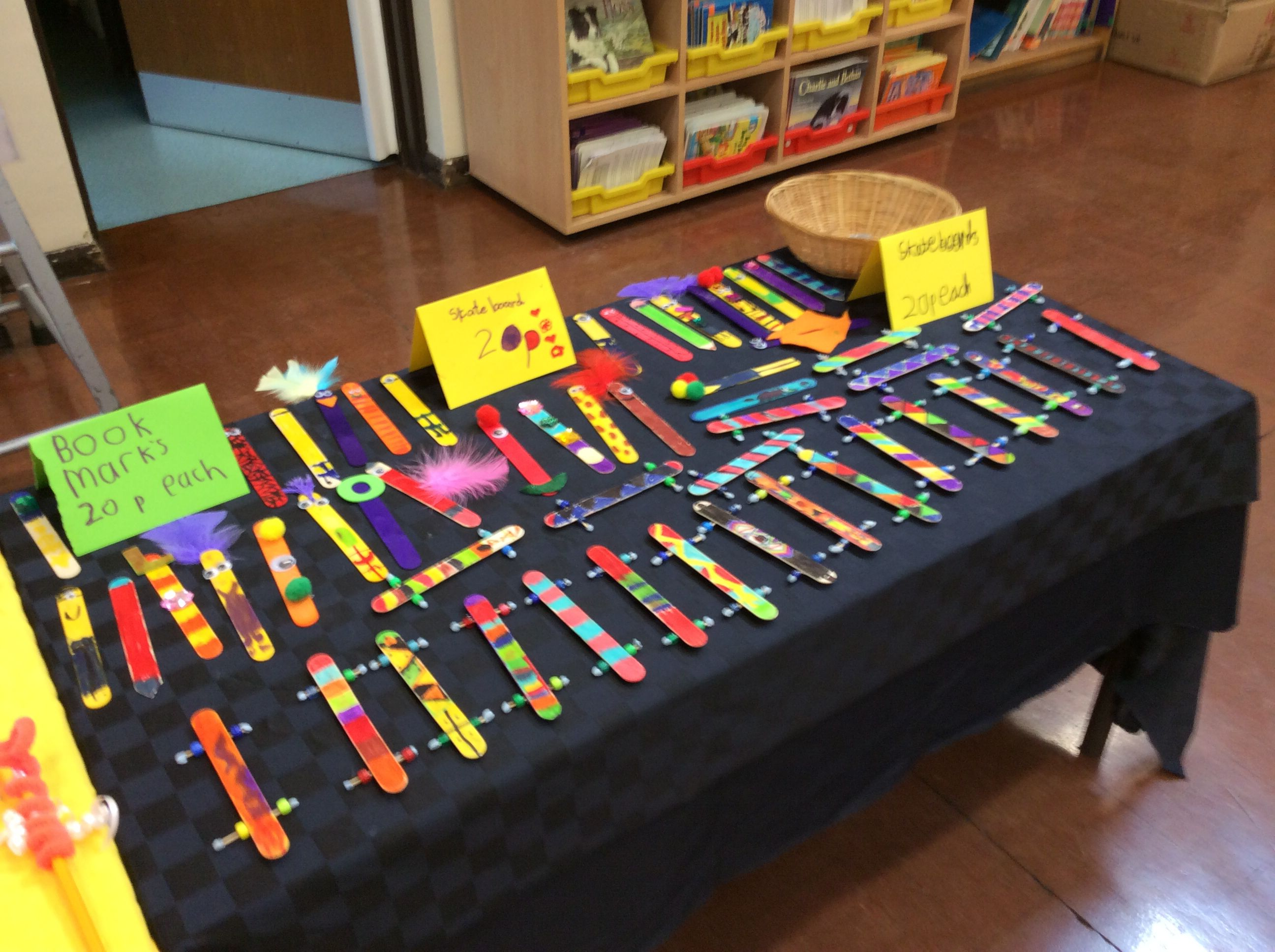 Lolly Stick Bookmarks And Skateboards Made By Yr 2 Enterprise