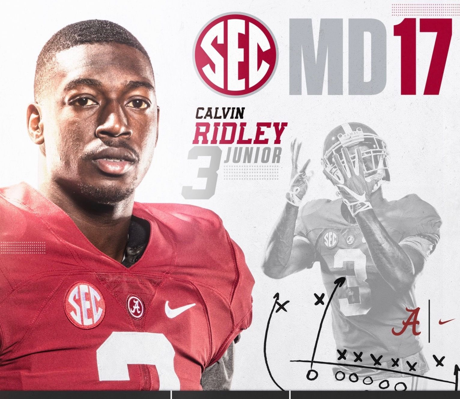 Calvin Ridley Sec Media Days Poster Alabama Rolltide Bama Builtbybama Rtr Alabama Crimson Tide Football Alabama Football Roll Tide Alabama Crimson Tide