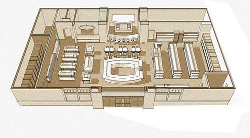 Floor Plan Example Grocery Store Design Store Design Grocery Planning