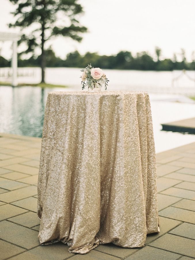 Sparkly Tablecloth Wedding Table Linens Wedding Cocktail Tables