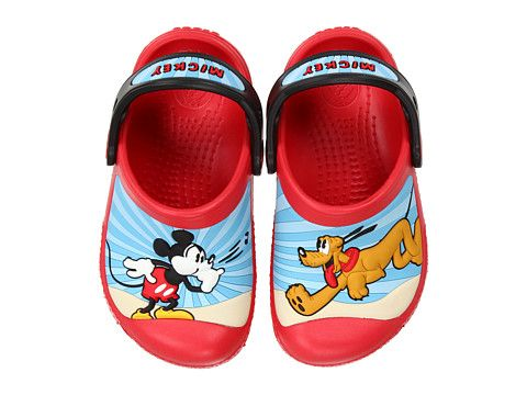 666c3c325509a9 SHE WOULD NEVER TAKE THEM OFF LOL Crocs Kids Mickey™   Pluto™ Custom Clog  (Infant Toddler Youth) Red Black - Zappos.com Free Shipping BOTH Ways