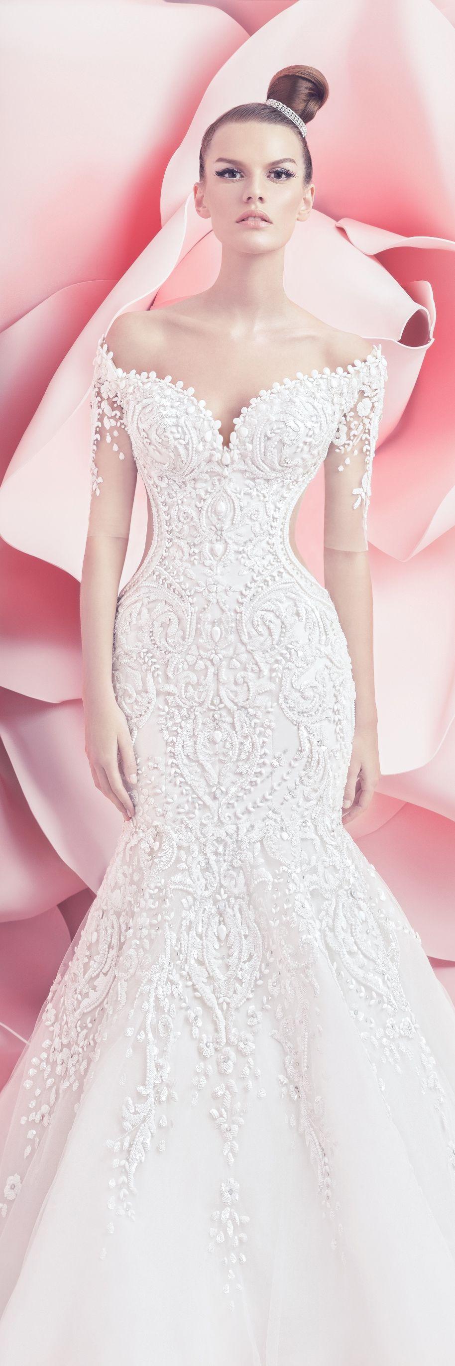 Peaches geldof wedding dress  Michael Cinco Bridal Spring Summer  Collection  Michael Cinco