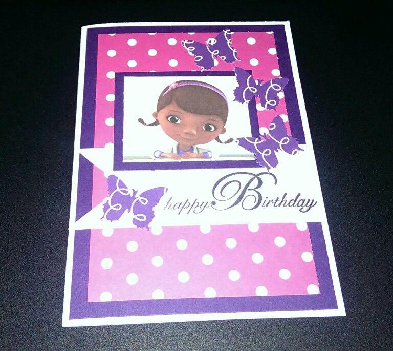 Doc mcstuffins birthday carddaac kids cards doc
