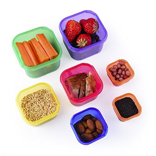 Portion Control Containers Kit (7-Piece) with COMPLETE GUIDE by Efficient Nutrition - BPA FREE Color Coded Meal Prep System for Diet and Weight Loss - http://www.exercisejoy.com/portion-control-containers-kit-7-piece-with-complete-guide-by-efficient-nutrition-bpa-free-color-coded-meal-prep-system-for-diet-and-weight-loss/fitness/