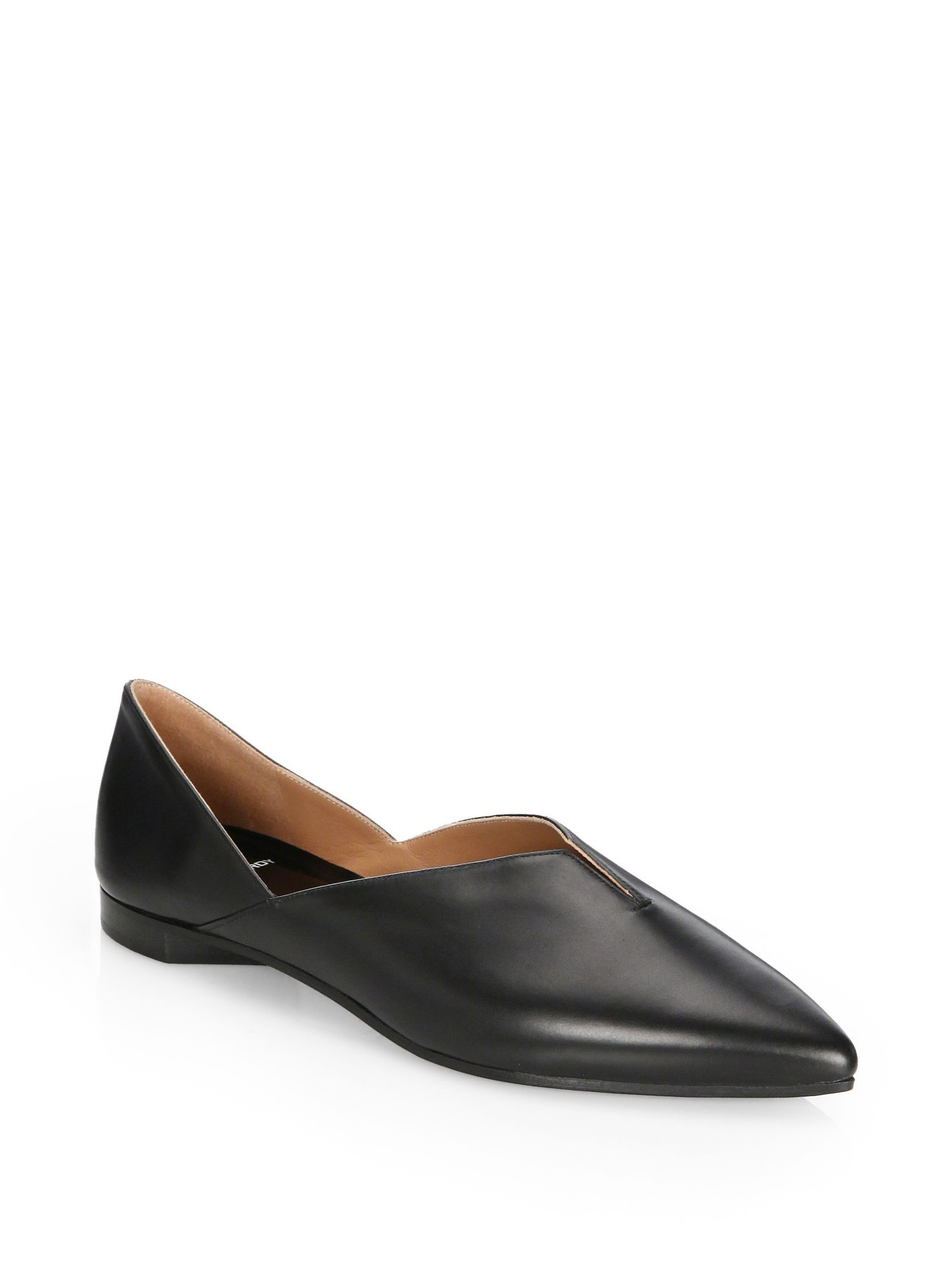 Pierre Hardy Point Toe Leather Loafers 5DIqMzcBX