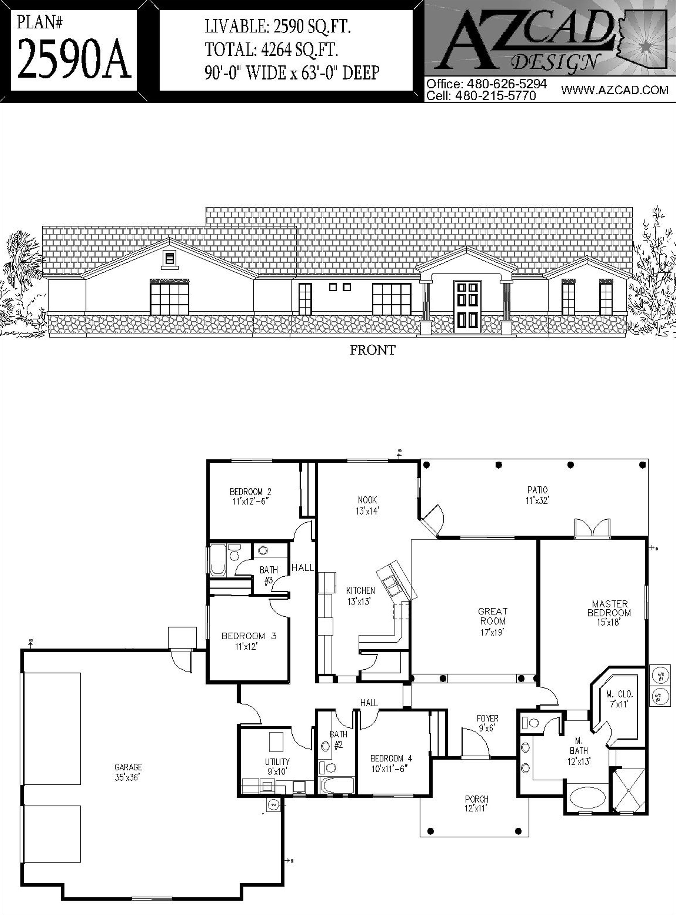 Azcad Com Drafting Arizona House Plans Floor Plans Houseplans Floor Plans Custom Homes House Plans