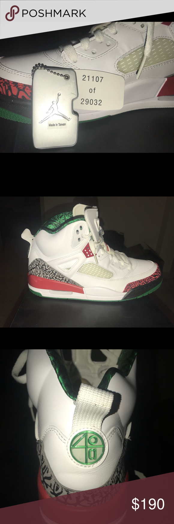 online store be4c2 8367b Air Jordan Spizike Collectors items. Won t last long! White varsity red  cement grey Size 10.5 Original box and tag Jordan Shoes Sneakers