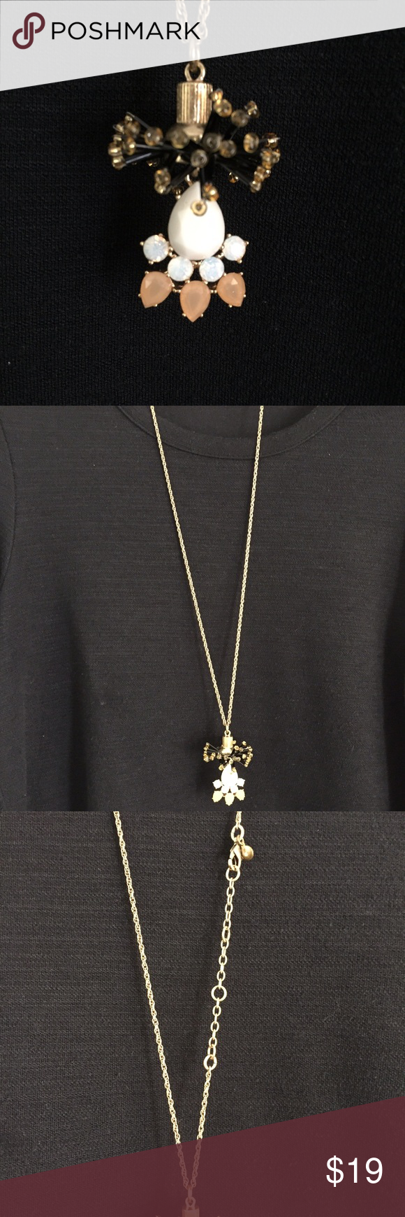 J crew pendant necklace beautiful stone pendant necklace from j crew