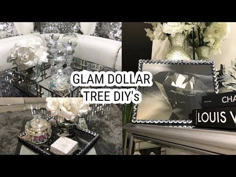 Dollar Tree Diy Home Decor Idea Super Glam Winter Home Tour Tablescape Youtube Decorating Coffee Tables Dollar Tree Mirrors Glam Mirror