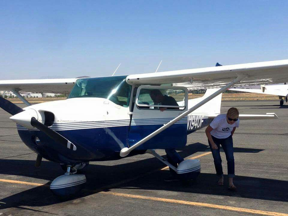 Our generous pilot, volunteering flying in from California to Phoenix Arizona! Emma is almost here !