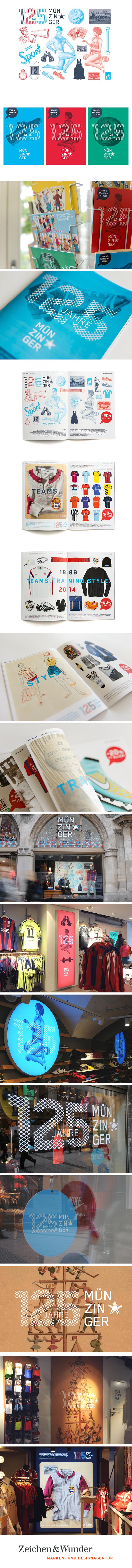 """SPORT MÜNZINGER / """"125 Jahre"""" Jubiläumskampagne / #Retro #Illustration #Collage #Sportswear / by Zeichen & Wunder, München"""