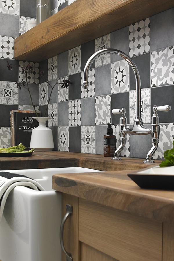 21++ Grey patchwork tiles kitchen inspirations