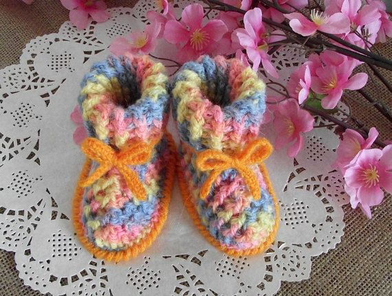 CROCHET PATTERN Booties Baby shoes - Alegria Baby crochet Shoes ...