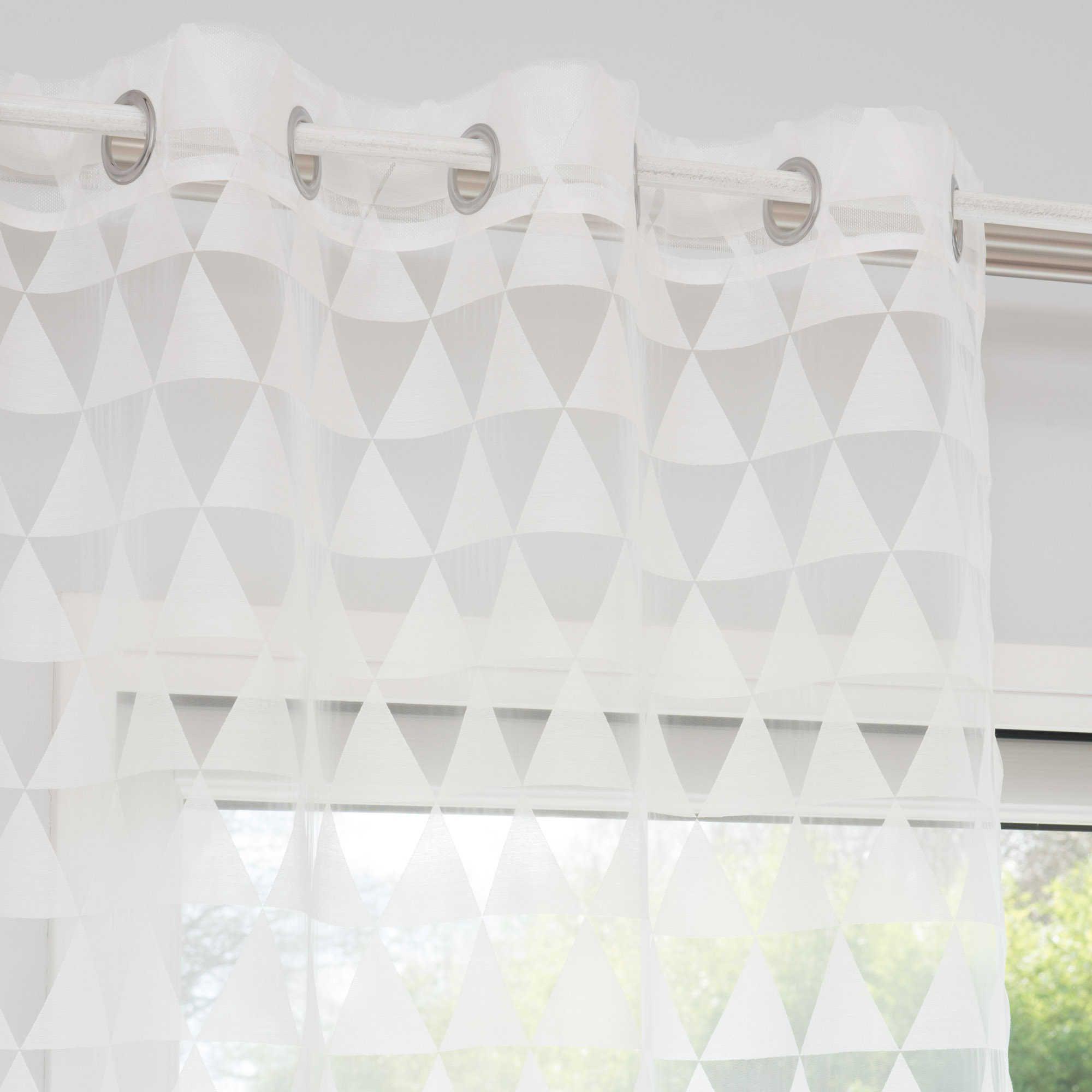 rideau a œillets motifs triangles