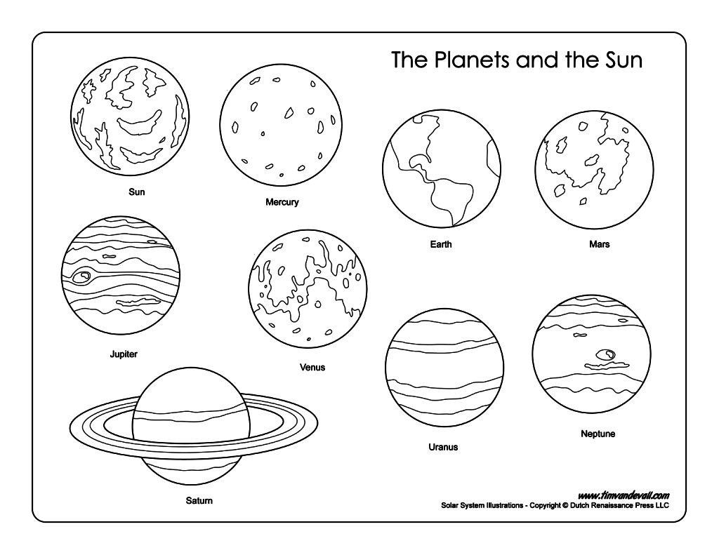 Solar System Coloring Pages Sheets Printable To Pretty