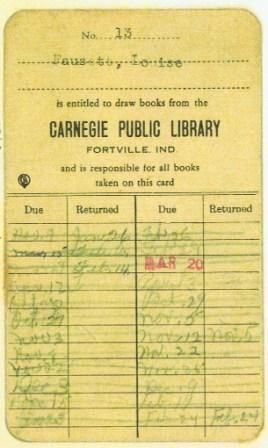 Louise Fausett  Library Card  Marketing  Advertising