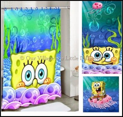 SpongeBob Shower Curtain, Bath Towel, And Washcloth Available At K Mart