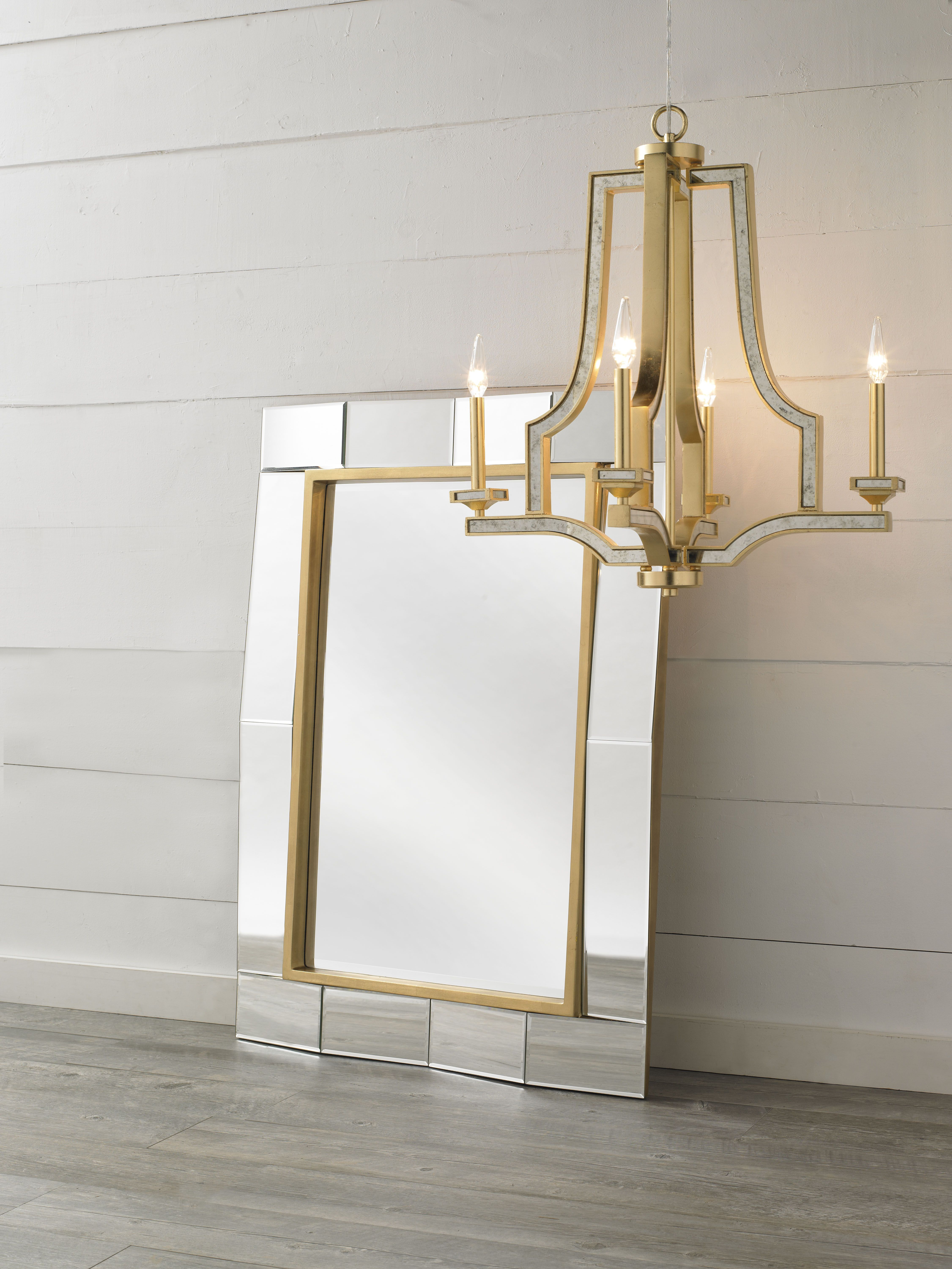 Uptown Luxury Mirror And Abella Chandelier By Capital