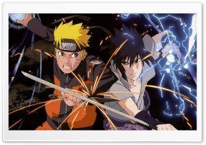 Naruto vs. Sasuke HD Wide Wallpaper for Widescreen