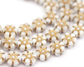 10 bolas de cristal checo flores 10 mm por SoveryPerlen en Etsy