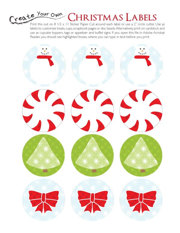 Free Printable Christmas Labels Christmas Pinterest Free