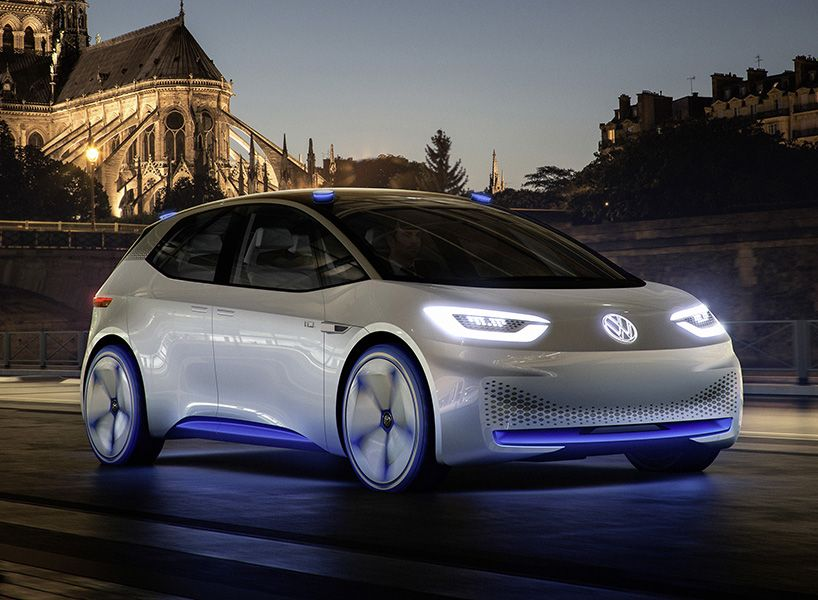 volkswagen world premiere of visionary id self driving concept car rh pinterest com