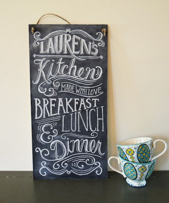 Custom Chalkboard Kitchen Chalkboard Sign By Lilyandval On Etsy 135 00 Kitchen Chalkboard Sign Kitchen Chalkboard Custom Chalkboard