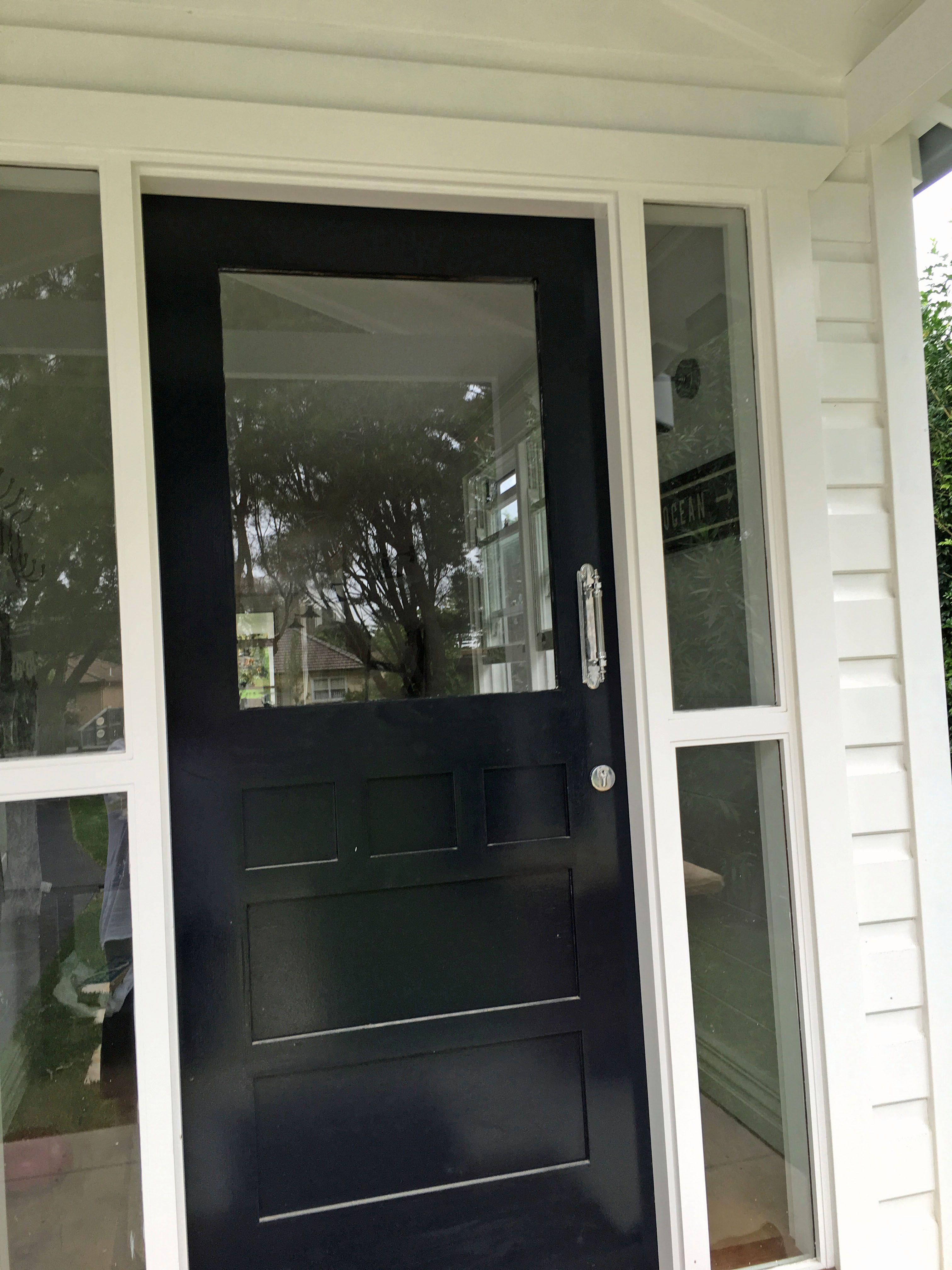 black front door handles. Black Front Door With Chrome Pull Handle. Http://www.restorationonline.com.au/chrome-door-pull-235mm Handles G