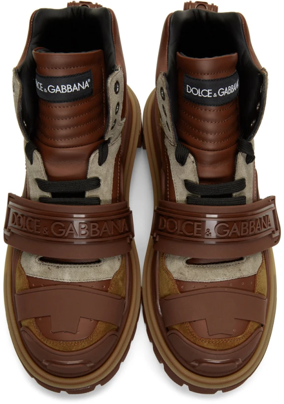 Dolce Gabbana Brown Trekking Boots Ssense Designer Sneakers Mens Dolce And Gabbana Gabbana