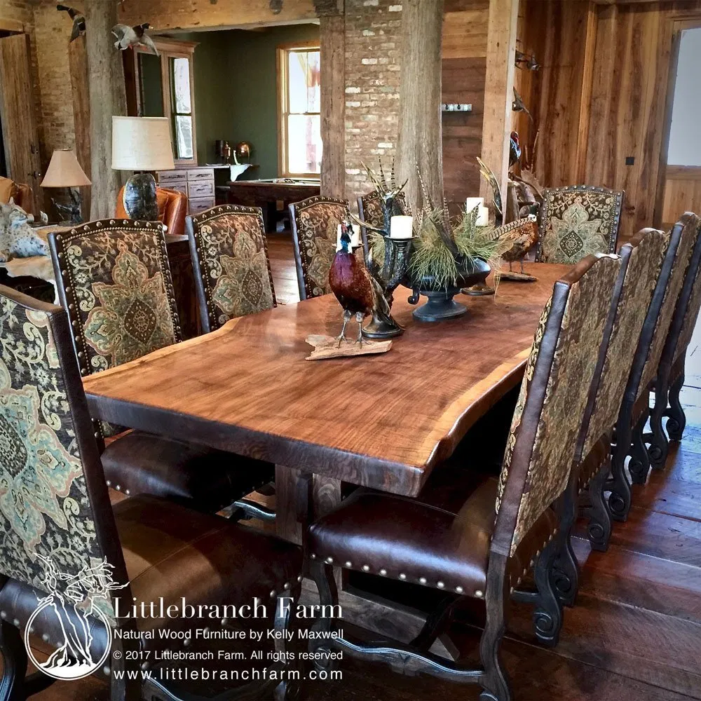 Rustic Dining Table Live Edge Dining Table Wood Slab Dining Table In 2020 Wood Slab Dining Table Long Dining Room Tables Wood Slab Table