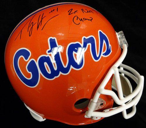 fe8960c3c4cc8 Percy Harvin Autographed Florida Gators Full Size Helmet