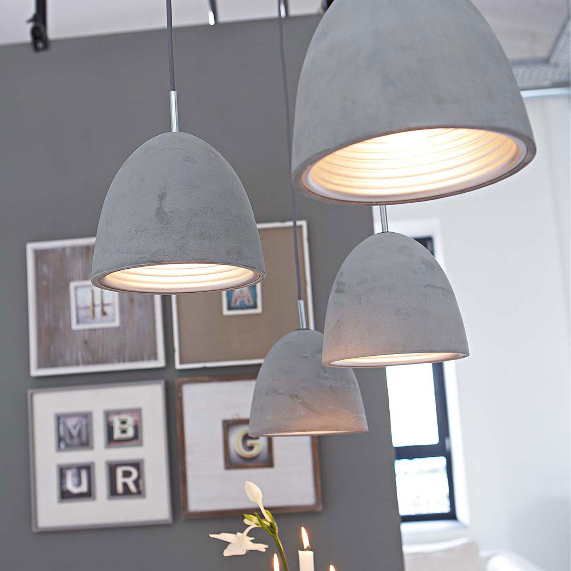 Beton Deckenleuchte In Grau Bei Impressionen Lampen Wohnzimmer Esstisch Beleuchtung Lampe Betonoptik