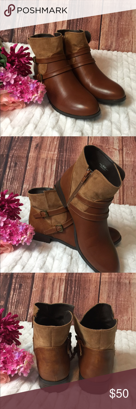 Chinese Laundry Brown Booties Sz 9 New ! Never Worn WITHOUT box ...
