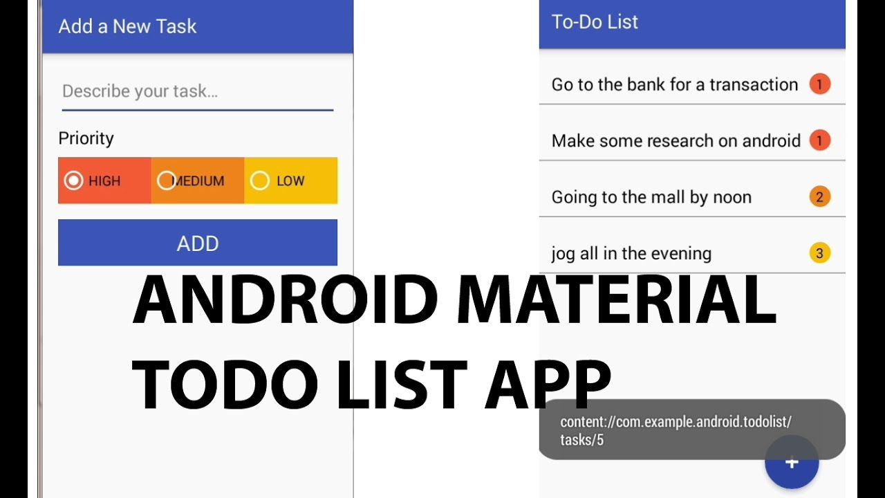 Android Material Design Todo List App  Delaroy Studios Channel