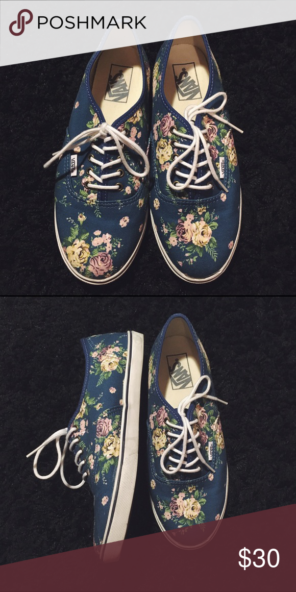 197a90f06b Flower Print Vans Women s 8 Great Condition. Size 8 in Women s. Size 6.5 in  Men s. Colors are true to pictures. Vans Shoes Sneakers